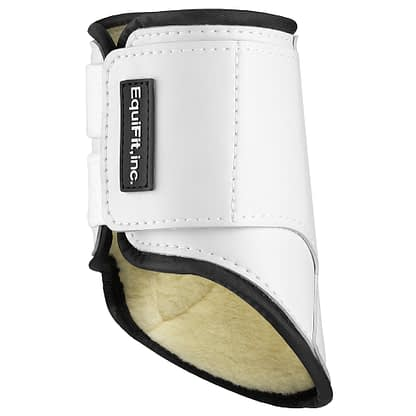 horse boot by equifit white with lamb skin