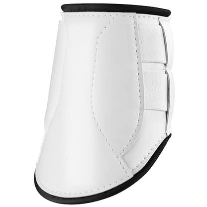 horse boot with velcro white