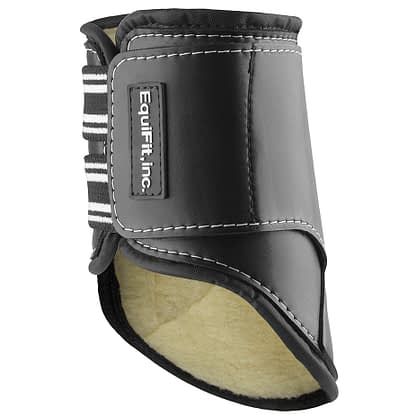 horse boot black with lamb skin