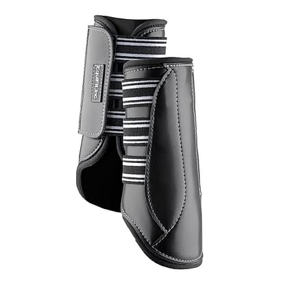 horse boot black leather
