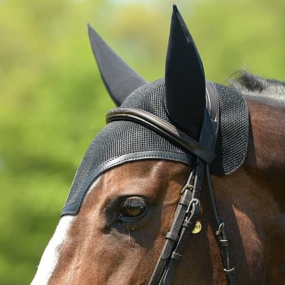 ear bonnet for horses with sound proof